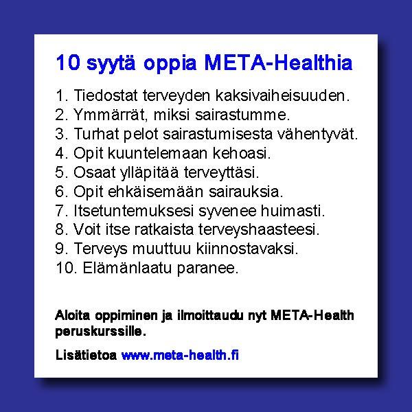 META-Health 10 syytä
